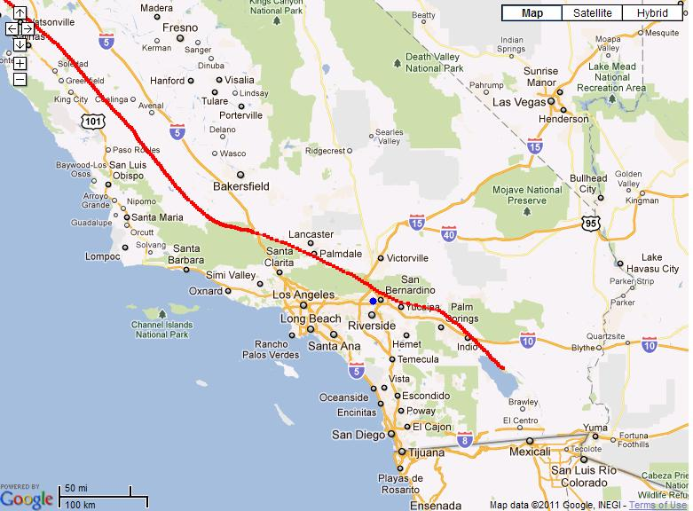 from the big bad nasty san andreas fault line see